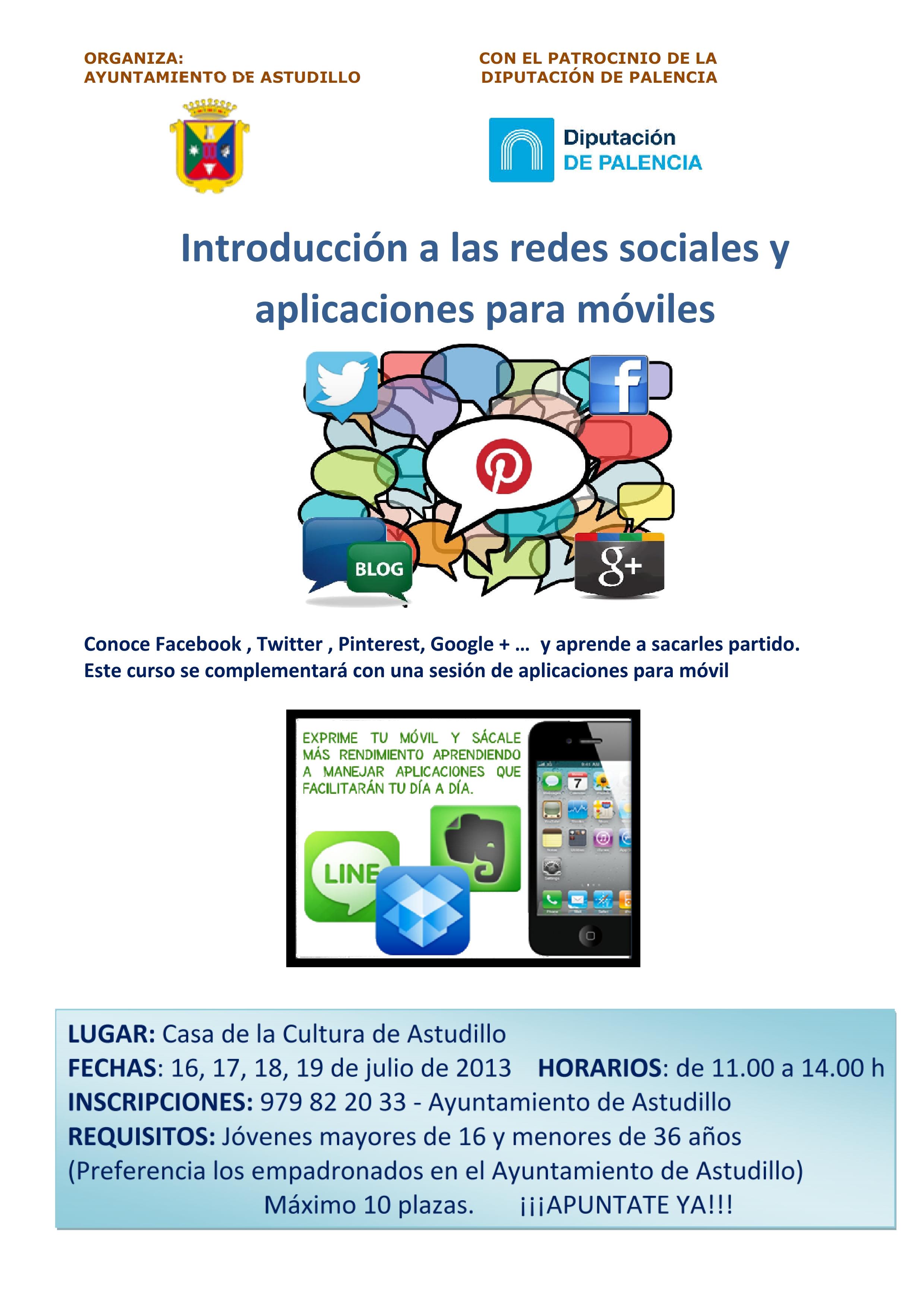 Inrtroducción a las redes sociales y aplicaciones para móviles