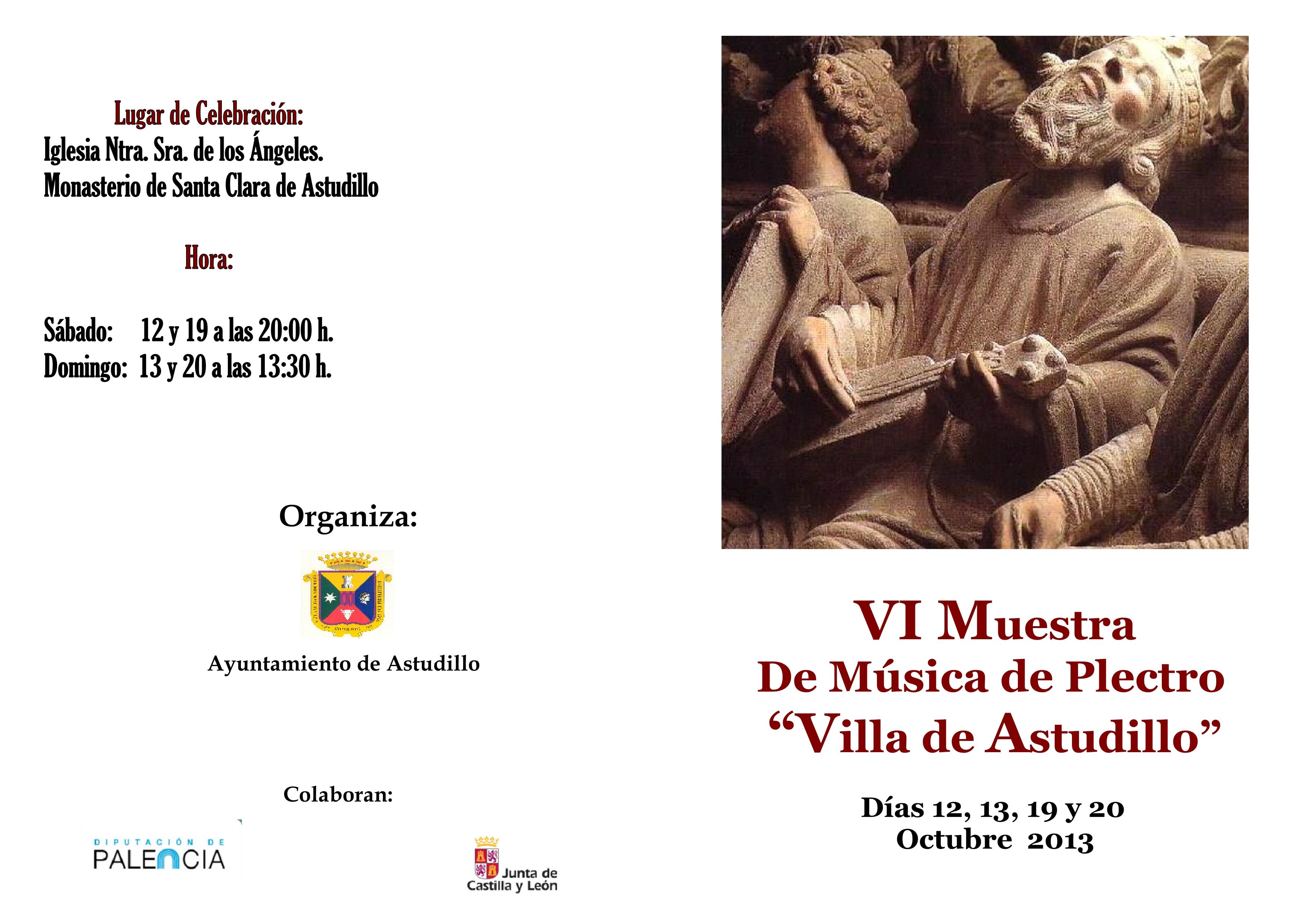 VI Muestra de Música de Plectro «Villa de Astudillo»