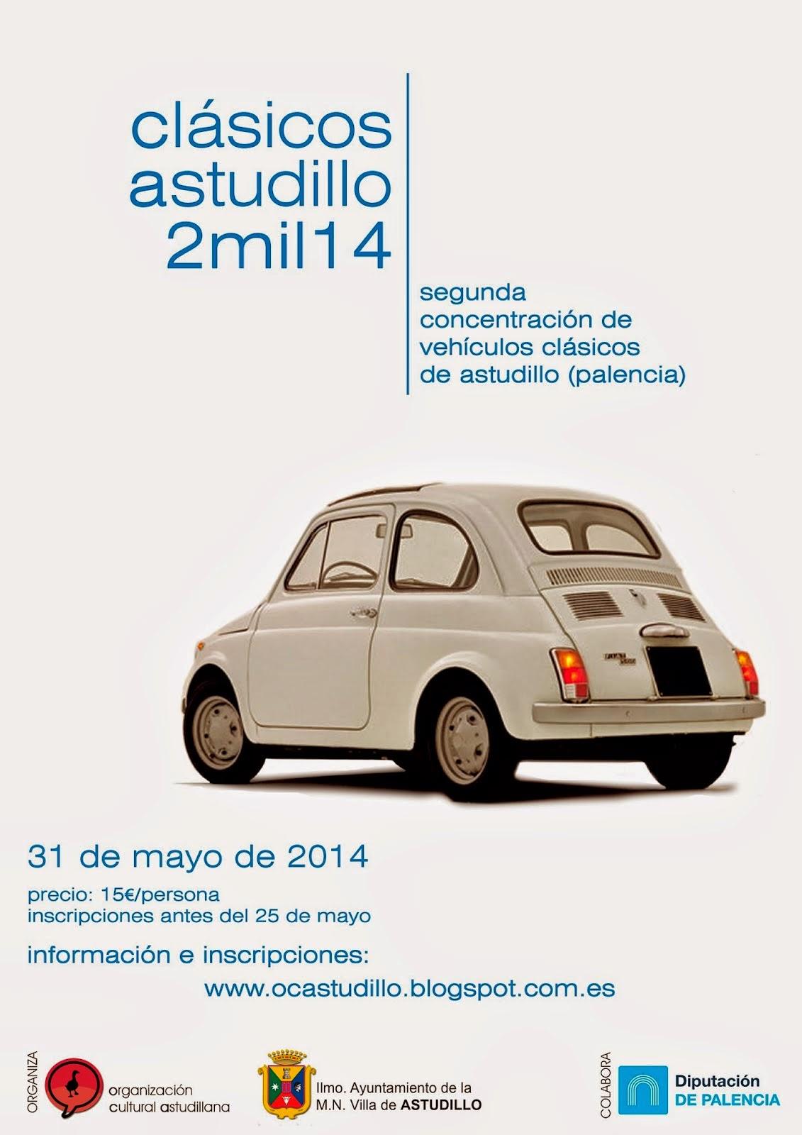 Clásicos Astudillo. segunda concentración de vehículos clásicos de Astudillo