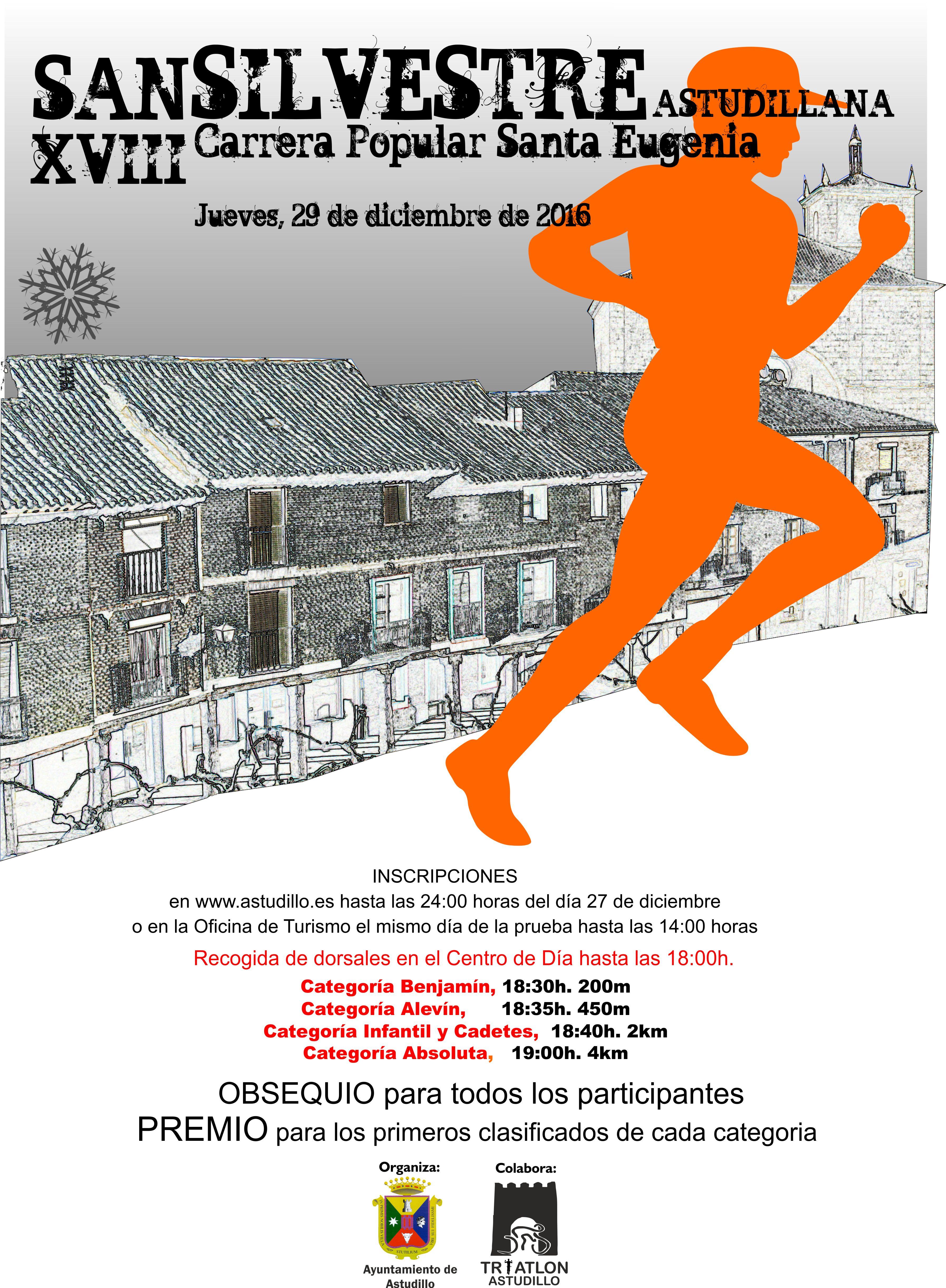 XVIII San Silvestre Astudillana, Carrera Popular Santa Eugenia