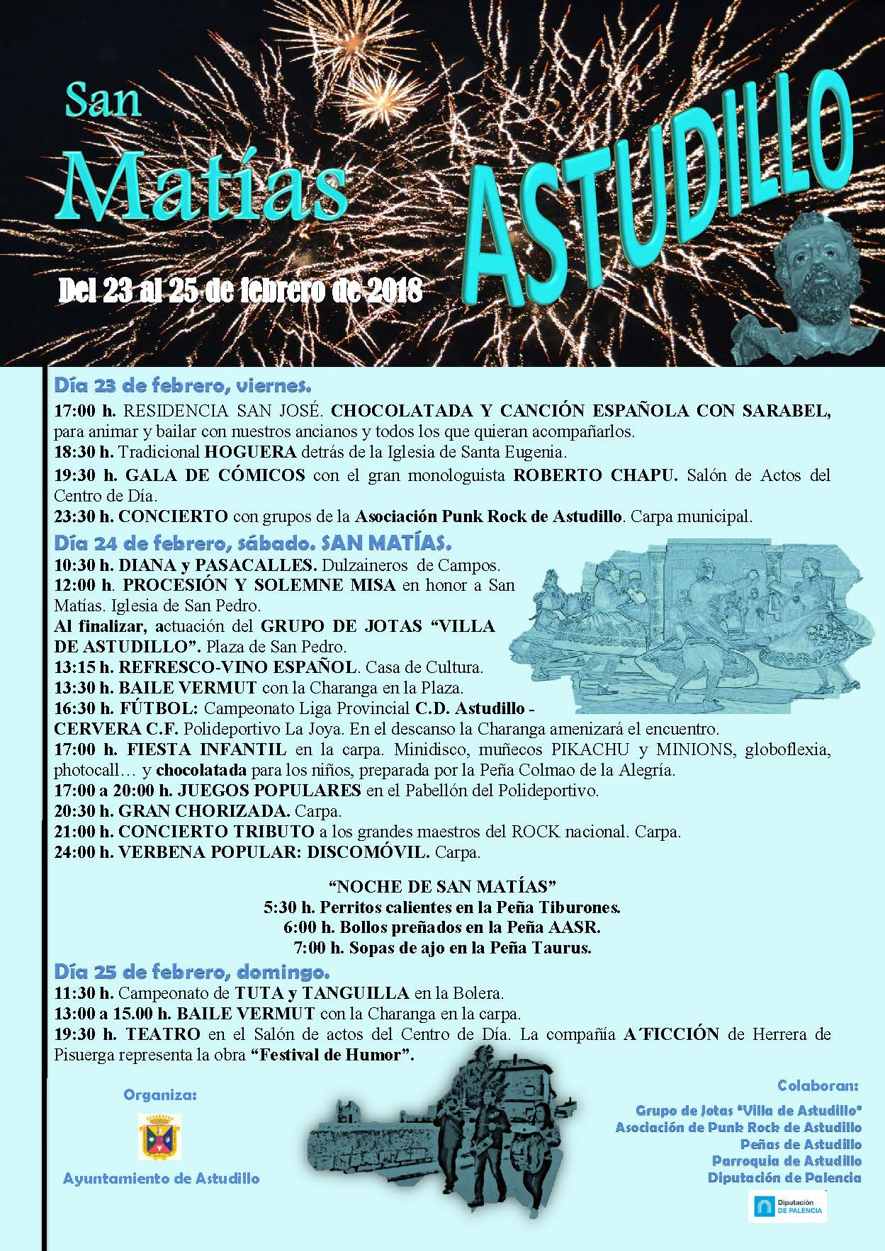 San Matías, del 23 al 25 de Febrero de 2018